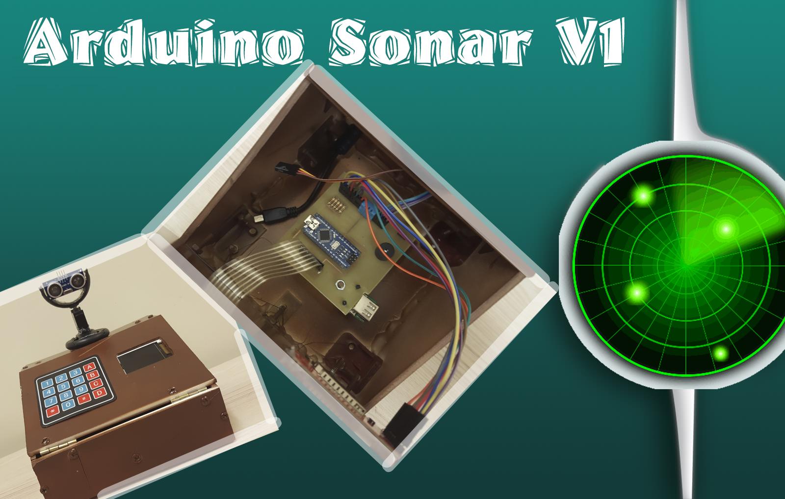 SPI 180X128 Ekran ile Sonar Projesi
