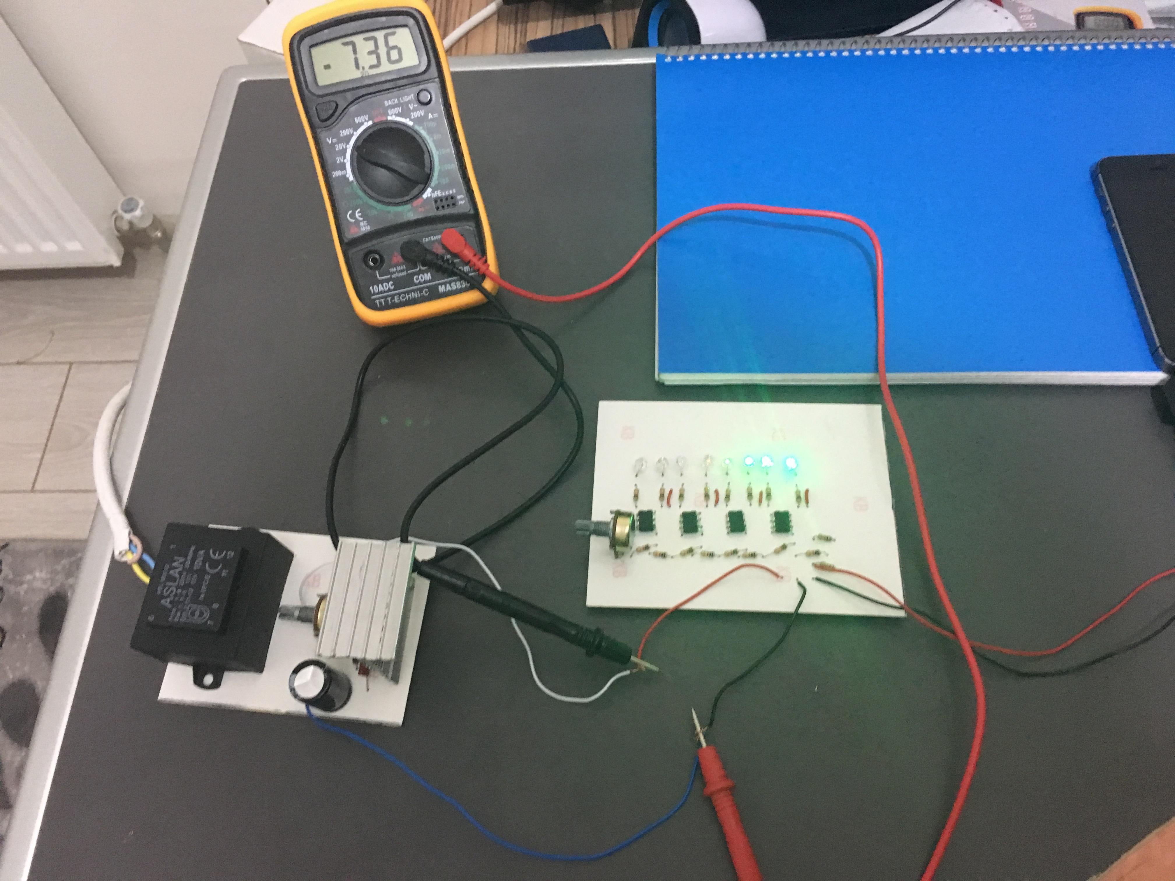 Simple Vu Meter Circuit Using Lm358 Proje Sayfam Analog