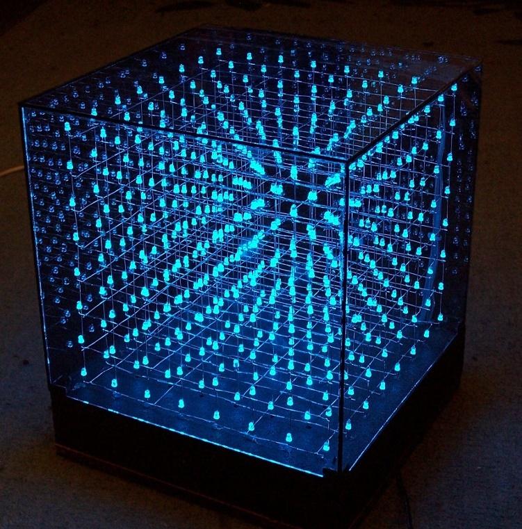 ARDUINO KONTROLLÜ 8x8x8 LED KÜP