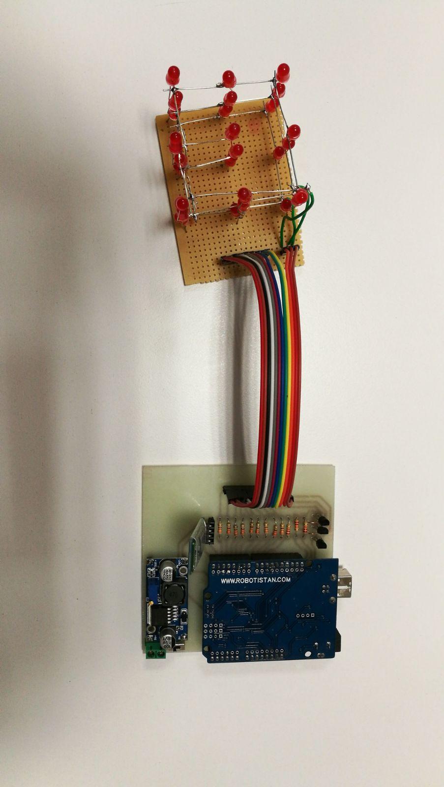 Elektronik elemanlar, 30 1.Öğretim, Grup234, arduino, 3x3x3 baskı devre